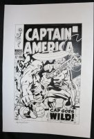 Captain America #106 Cover Recreation - LA - Jack Kirby Homage - Cap vs. Steve Rogers Android - Signed Comic Art