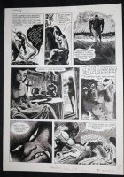 Eerie #38 p.8 - LA - 'The Carrier of the Serpent' B&W Ink Wash - 1972 Comic Art
