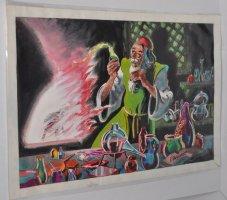 Medieval Alchemist Color Art Piece - 1962 Comic Art