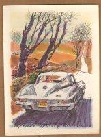 Corvette Advertising Job - Late 60's / Early 70's Comic Art