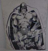 Night Master Character Design - Black And White Art Comic Art