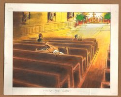 Adult Nudity Painted Art Published Cartoon - Praise the Lord! - Late 70's / Early 80's Comic Art