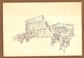 Roman Coliseum Line Drawing  Comic Art