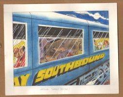 Adult Nudity Painted Art Published Cartoon - Going Down South! - Late 70's / Early 80's Comic Art