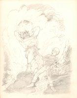 Jonny Quest and Bandit Pencil Art  Comic Art