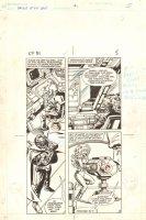 Flash Force 2000 #1 p.5 - Terminus 3 and Shari - Matchbox Car Insert Comic Book - 1983 Comic Art