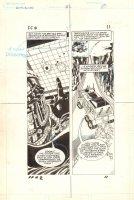 Flash Force 2000 #2 p.11 - Terminus 3 in the Battle Van - Matchbox Car Insert Comic Book - 1983 Comic Art