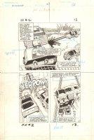 Flash Force 2000 #2 p.13 - Flash Fighters vs. the Battle Van - Matchbox Car Insert Comic Book - 1983 Comic Art