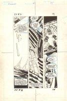 Flash Force 2000 #2 p.14 - The Battle Van Teeters Precariously on the Brink - Matchbox Car Insert Comic Book - 1983 Comic Art