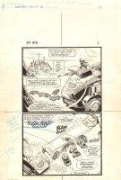 Flash Force 2000 #3 p.1 - Terminus 3 at Technopolis - Matchbox Car Insert Comic Book - 1983 Comic Art