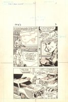 Flash Force 2000 #3 p.3 - Flash at the Flash Force Base - Matchbox Car Insert Comic Book - 1983 Comic Art