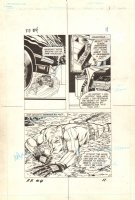 Flash Force 2000 #4 p.11 - Beneath Terminus 3's Feet - Matchbox Car Insert Comic Book - 1983 Comic Art