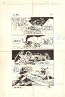 Flash Force 2000 #4 p.12 - Flash vs. Terminus 3 Action - Matchbox Car Insert Comic Book - 1983 Comic Art