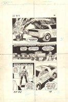 Flash Force 2000 #4 p.14 - Terminus 3 Escapes - Flash vs. Rampagers - Matchbox Car Insert Comic Book - 1983 Comic Art