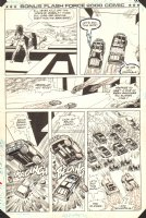 Flash Force 2000 Bonus Comic p.10 - Evil Cars - Matchbox Car Insert Comic Book - 1985 Comic Art