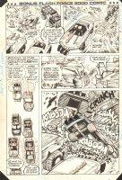 Flash Force 2000 Bonus Comic p.11 - Flash Fighters vs. Evil Cars Action - Matchbox Car Insert Comic Book - 1985 Comic Art