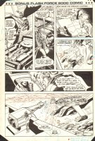 Flash Force 2000 Bonus Comic p.13 - Terminus 3 Retreats - Matchbox Car Insert Comic Book - 1985 Comic Art