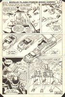 Flash Force 2000 Bonus Comic End Page - Victory Fireworks - Matchbox Car Insert Comic Book - 1985 Comic Art