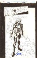 X-Man #7 p.30 - Nate Grey 100% Splash - 1995 Signed Comic Art