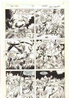 The 'Nam #37 p.17 - Gunfight and Man Down in the Jungle - 1989 Comic Art
