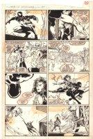 Web of Spider-Man #37 p.19 - Black Suit Spidey - 1988 Comic Art