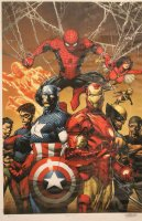Marvel Enforcers- Captain America, Spider-Man, Iron Man, and Wolverine- Signed 5/100 Comic Art