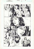 Wonder Woman #39 p.4 - Wonder Woman and Amazons - 2015 Signed Comic Art