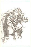 Beta Ray Bill Pencil Commission - 2004 Signed Comic Art