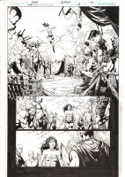 Wonder Woman #39 p.16 - Wonder Woman Lands in Village - 2015 Signed  Comic Art