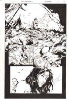 Wonder Woman Annual #1 p.5 - Wonder Woman Post Battle Scene 1/2 Splash - 2015 Signed Comic Art