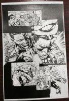 Forever Evil #1 p.11 - Deathstroke, Lex Luther, Green Lantern, & Batman - 2013 Comic Art