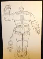 The Big Guy and Rusty the Boy Robot Commission - LA - Signed Comic Art