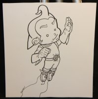 Rusty the Boy Robot Small Commission - Signed Comic Art