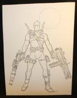 Deadpool Commission - LA - Signed Comic Art
