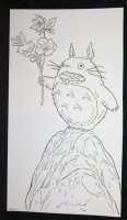 My Neighbor Totoro from Studio Ghibli with Flower on Hill Commission - Signed Comic Art