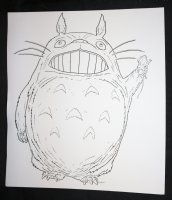 My Neighbor Totoro from Studio Ghibli with Mouse in Hand Commission - LA - Signed Comic Art