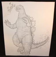 The Big Guy and Rusty the Boy Robot vs. Godzilla - LA - Signed - B Comic Art