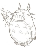 My Neighbor Totoro from Studio Ghibli with Singing Mouse Commission - Signed  Comic Art
