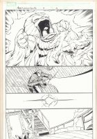Marvel Adventures Spider-Man #4 p.4 - Spidey and Human Torch vs. Monster - 2005 Comic Art