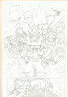 What If? Newer Fantastic Four #1 p.16 - Thanos, Glactus, and Celestials Splash - 2009 Comic Art