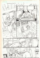 Marvel Adventures Spider-Man #13 p.12 - Aunt May drags Peter into School Office - 2006 Signed Comic Art