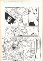 Marvel Adventures Spider-Man #? p.17 - Spidey vs. Electro - 2000s Signed Comic Art