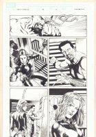 Captain America #30 p.10 - Black Widow Action - 2007 Signed Comic Art