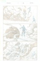 Avengers #1 p.11 - Crazy Iron Man and Thor Page - 2013 Comic Art