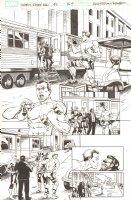 Spider-Man/Deadpool #6 p.9 - Spidey & Deadpool see Ryan Reynolds in Hollywood - 2016 Signed Comic Art