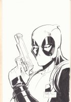 Deapool with Gun Drawn Commission - 2018 Signed Comic Art