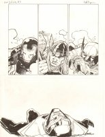 Avengers Vs. X-Men: Infinite #3 Digital Comic Page - Beaten up Iron Mana, Thor, Wolverine, and Phoenix Five Cyclops - 2012 Signed Comic Art