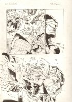 Avengers Vs. X-Men: Infinite #3 Digital Comic Page - Phoenix Five Cyclops vs. Thor Action - 2012 Signed Comic Art