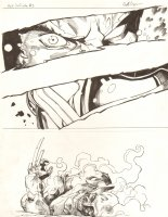 Avengers Vs. X-Men: Infinite #3 Digital Comic Page - Phoenix Five Cyclops Torches Wolverine - 2012 Signed Comic Art