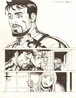 Avengers Vs. X-Men: Infinite #3 Digital Comic Page - Tony Stark, Scarlet Witch, Beast, and Hope Summers  - 2012 Signed Comic Art